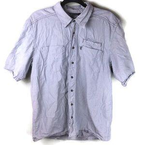 Kavu 3 Pocket Striped Button Up Shirt Size Large